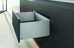 Kit de tiroir à casseroles flexibles HETTICH AvanTech, argent éloxé