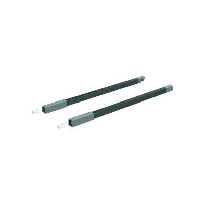 Kit tringle longitudinale HETTICH InnoTech Atia, LN 350 mm, gauche / droite, anthracite