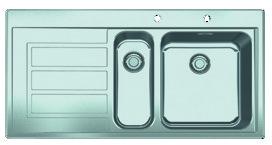 Einlegespüle FRANKE EPOS EOX 651, Druckknopf / Siebkorb