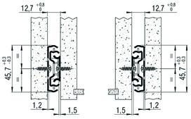 Roul. à ext. double FULTERER FR 5000, zingué, 45 kg, 450 mm