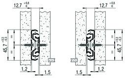 Roul. à ext. double FULTERER FR 5000, zingué, 45 kg, 250 mm