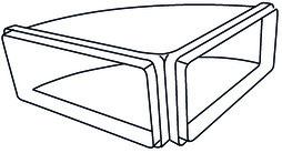 Bogen FRANKE, horizontal