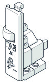 Anschlagabdeckkappe HAWA-Concepta tiefenverstellbar oben links/unten rechts