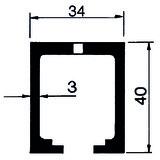 Umrüstgarnitur HAWA-Concepta 40 Scharnier mit Dämpfung