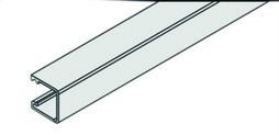 EKU 040.3040.350 Rail vertical, clipsage, EKU-REGAL B 25 alu anodisé, 3500 mm