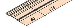 EKU 040.3153.350 Cornière, alu anodisé, avec bande collante double-face, 3500 mm