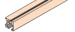 EKU 040.3155.350 Rail de roulement simple EKU-REGAL C 26 clipsage, alu anodisé, 3500 mm