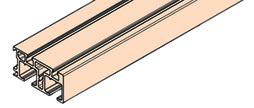 EKU 040.3156.350 Rail de roulement double REGAL C 26, clipsage, alu anodisé, 3500 mm
