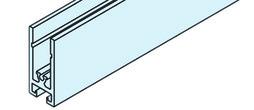 EKU 042.3000.350 Profil cadre horizontal, alu anodisé, 3500 mm