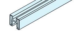 EKU 042.3001.300 Rahmenprofil vertikal, Alu eloxiert, 3000 mm