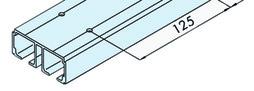 EKU 042.3002.350 Rail de roulement double, alu anodisé, perforé, 3500 mm