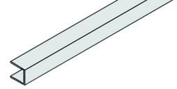 EKU 042.3005.300 Profil cadre frontal, alu anodisé, pour 042.3001, 3000 mm