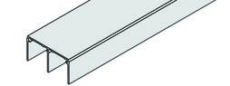 EKU 042.3011.350 Doppelführungsschiene, Alu eloxiert, 3500 mm