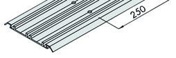 EKU 042.3082.350 Dreifachlaufschiene, Alu eloxiert, gelocht, aufgesetzte Montage, 3500 mm
