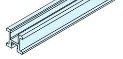 EKU 042.3083.300 Griffprofil, vertikal, Alu eloxiert, 3000mm