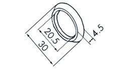 EKU 053.3091.982 Poignée conchiforme, en alu, anodisé, à coller, verre, lot = 2 pcs.