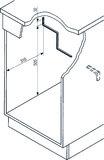Treppenstützwinkel für Deckel Müllex Art-Nr. 6416