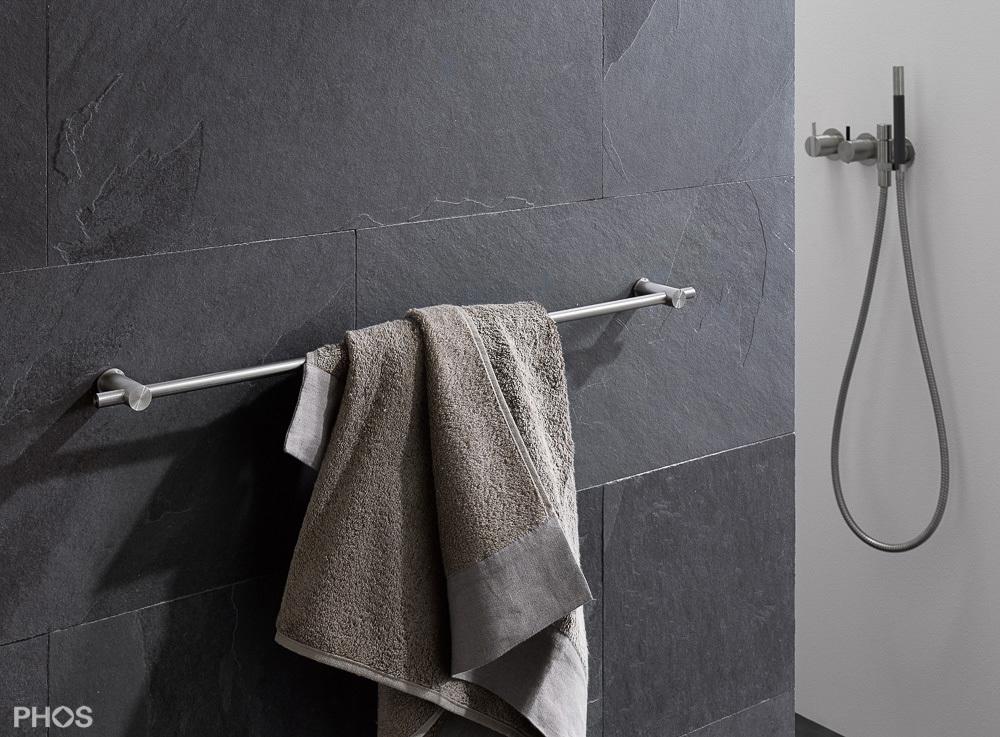 Handtuchhalterset, 2 Halter Ø20 x 55 mm, PHOS Artikel-Nr. HS20-55-600