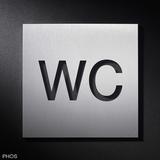 Plaques de symboles ''WC'' n°d'art. PHOS BS0101