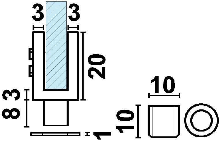 Charnières pour portes en verre