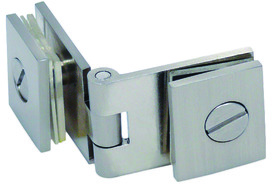 Charnières doubles pour portes en verre