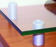 Entretoise pour tablettes en verre