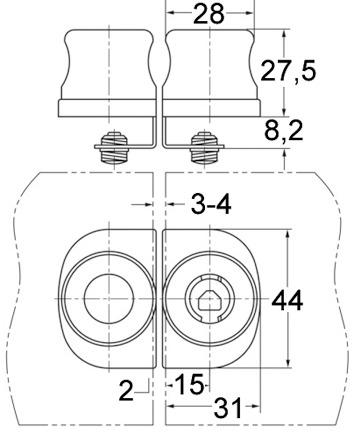 Gegenstücke für Glastürschloss WKS - P5000