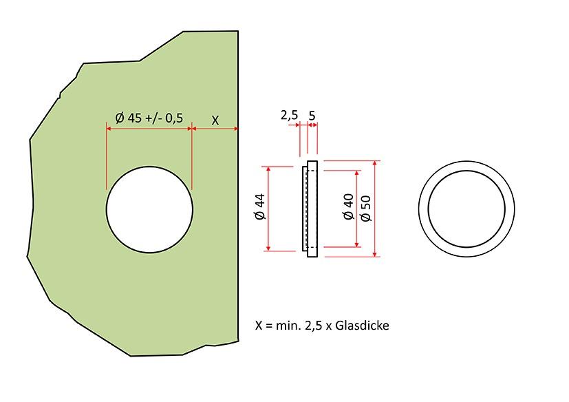 Poignées pour portes coulissantes en verre PHOS