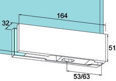 Ferrement d'angle inférieur PT 10 pour installations entièrement en verre DORMA Universal