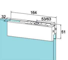 Ferramenta angolare superiore PT 20 per impianti completamente in vetro DORMA Universal