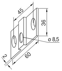 Linguetta di fissaggio per impianti completamente in vetro DORMA Universal