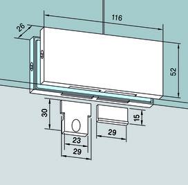 Congiunzione per lucernari PT 70 per impianti completamente in vetro DORMA Universal