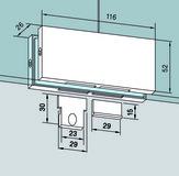 Assemblage d'impostes PT 70 d'angle pour installations entièrement en verre DORMA Universal