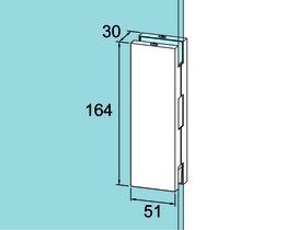 Controcartella a scatola GK 50 per impianti completamente in vetro DORMA Universal