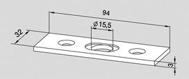 Controcartella per impianti completamente in vetro DORMA Universal