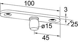 Tige supérieure PT 24 pour DORMA Universal