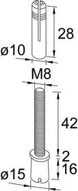 Perno superiore PT 25 per DORMA Universal