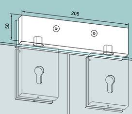 Controcartella a scatola per impianti completamente in vetro DORMA Universal