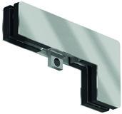 Ferrement pour imposte d'angle PT 40 pour installations entièrement en verre DORMA Mundus Comfort