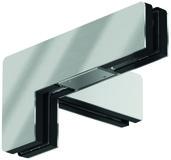 Ferrement pour imposte d'angle PT 41 pour installations entièrement en verre DORMA Mundus Comfort