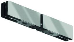 Contre-boîtes d'imposte double GK 20 pour installations entièrement en verre DORMA Mundus Comfort