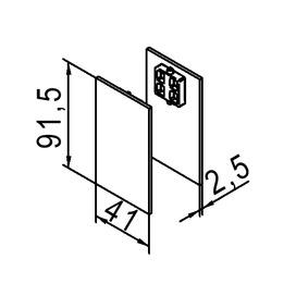 Kit di placche di copertura HELM 53/73 vetro