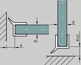 Joint d'étanchéité pour douche DORMA PROVITRIS avec hydrofuge