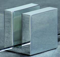 Fixation au sol pour les pièces fixes DORMA Design QUADRAT