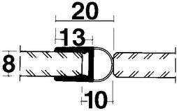 Profili di tenuta box doccia con tubo, lateralmente