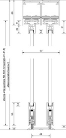 Ferramenta per ante scorrevoli OK-LINE Slideflex GG 100