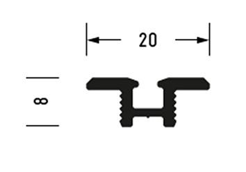Inserto per rotaia OK-LINE Slideflex