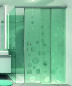 Ferrements pour portes coulissantes EKU-BANIO 40 GF montage cloison en verre