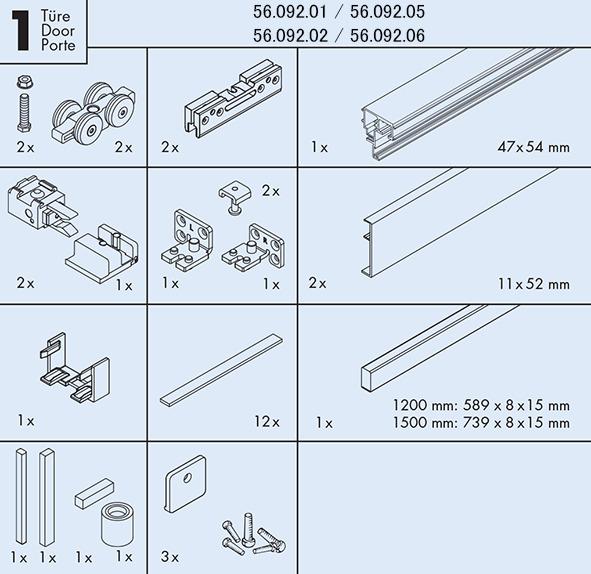 Set complet EKU BANIO 40 GF