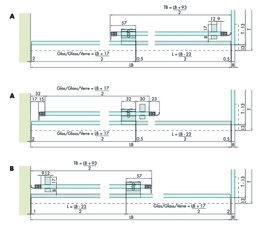 Set complet EKU BANIO 40 GF montage cloison en verre